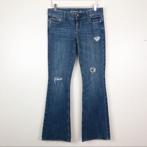 AMERICAN EAGLE l Distressed Flare Leg Jeans